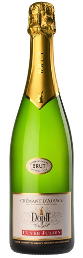 Cremant d'Alsace Cuvee Julien Brut, Dopff au Moulin no background.png